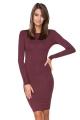 Gundanti bordo spalvos suknelė