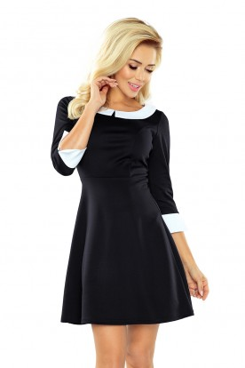 Dress with collar - black 162-1