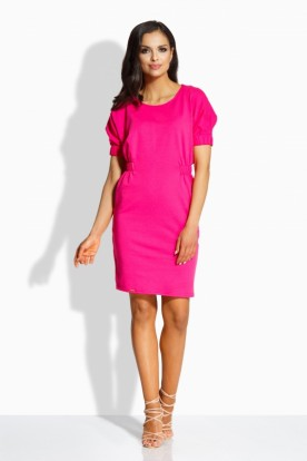 L206 Elegant fitted dress pink