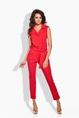 L145 Elegant overall with flanging red