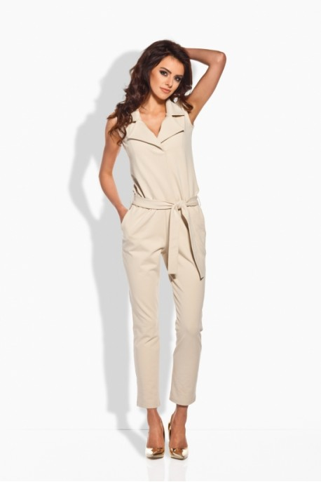 L145 Elegant overall with flanging beige