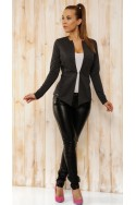 LIV Elegant-fitted jacket dark grey