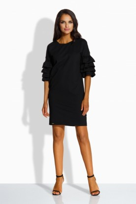 L229 Loose dress in spanish style black