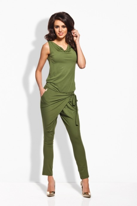 L124 Overall with splice khaki