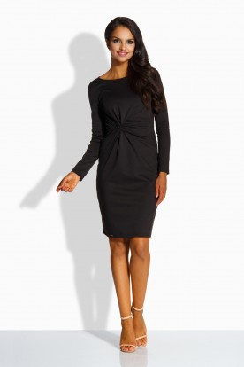 L225 Elegant fitted dress black