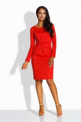 L225 Elegant fitted dress red