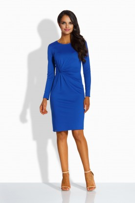 L225 Elegant fitted dress blue
