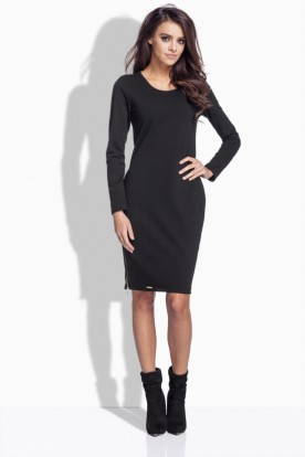 L170 Very feminie, fitted dress black
