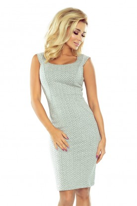 Fitted dress - gray 53-32
