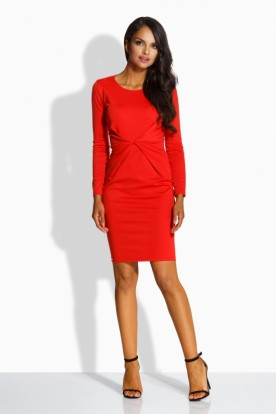 L219 Fitted elegant dress red