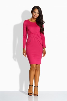 L219 Fitted elegant dress pink