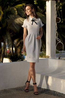 L234 Elegant dress light grey