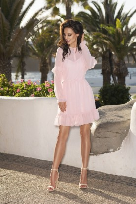 L240 Gauzy dress powder pink