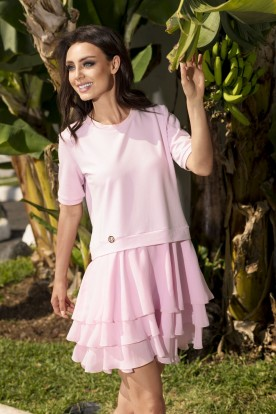 L244 Mini dress powder pink