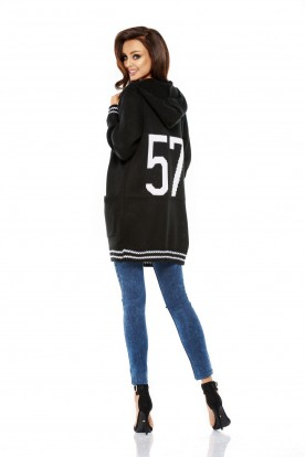 LS210 Loose casual sweatshirt black