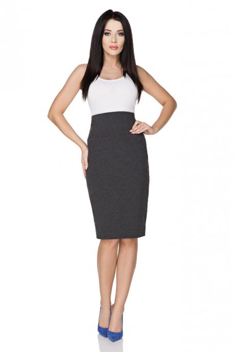 Tamsiai pilkas sijonas