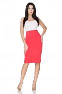 Koralinės spalvos sijonas