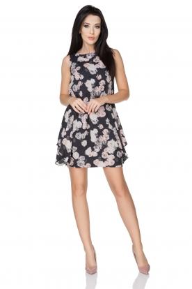 Gėlėta originali suknelė