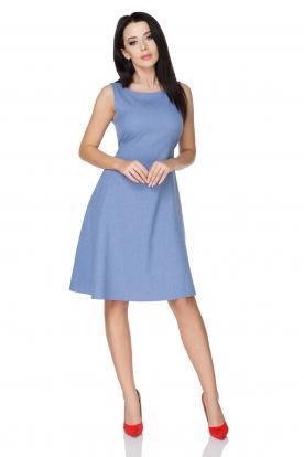 Elegantiška mėlyna suknelė