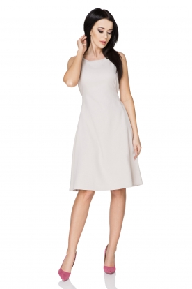 Elegantiška šviesiai pilka suknelė