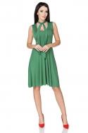 Žalia suknelė su raišteliais