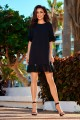 Dress with a frill L243 black