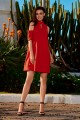 Dress with bare shoulders L245 red