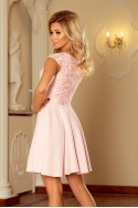 157-4 Dress MARTA with lace - pastel pink