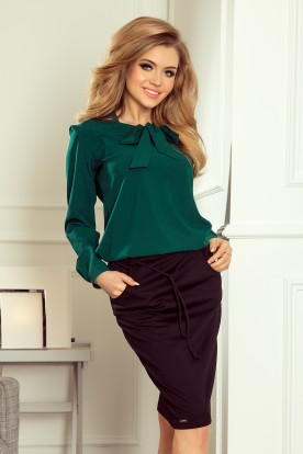 Blouse with bond - green 140-9