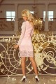 170-4 Lace dress with neckline - pastel pink