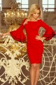 188-1 CARMEN Dress with Spanish sleeves - red