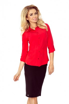 Red blouse - buttons MM 017-1