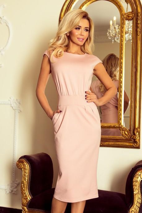 144-6 Dress midi SARA - pastel pink