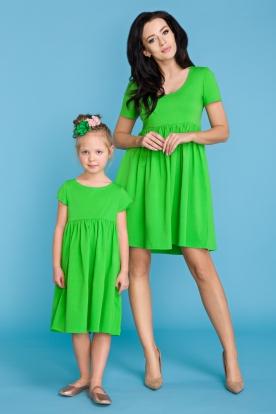 Žalia suknelė mergaitei