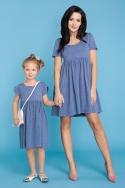 Mėlyna suknelė mergaitei