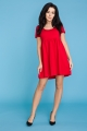 Raudona suknelė moteriai