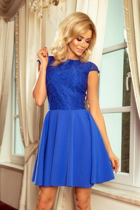 157-5 Dress MARTA with lace - royal blue