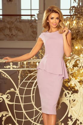 192-2 Elegant midi dress with frill - LILA