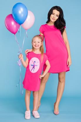 Rožinė suknelė mergaitei