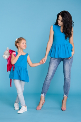 Mėlyna tunika mergaitei