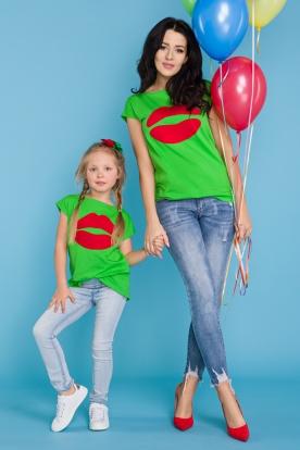 Žali marškinėliai mergaitei