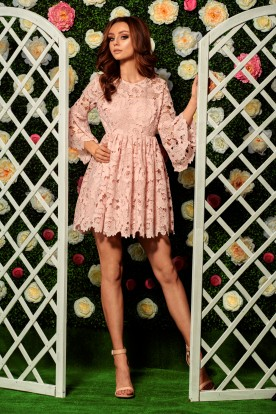 Romantic lace dress L262 powder pink