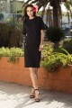 Casual set with a pencil skirt L233 black
