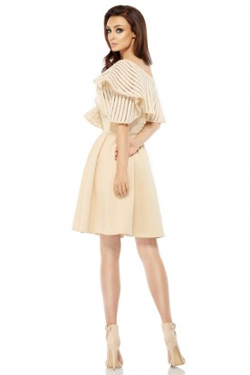 Cocktail dress L246 beige