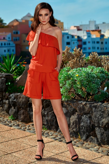Fashionable summer overall L251 red