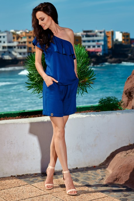 Fashionable summer overall L251 navy