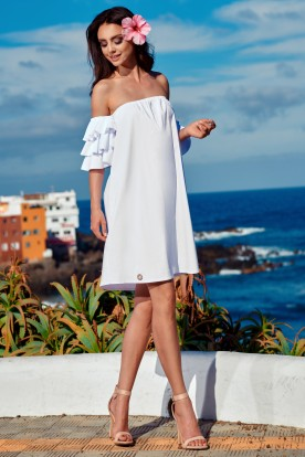 A perfect dress without shoulders L252 white