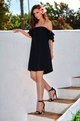 A perfect dress without shoulders L252 black
