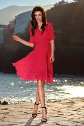 Airy envelope dress L255 raspberry