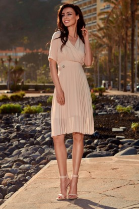 Airy envelope dress L255 beige